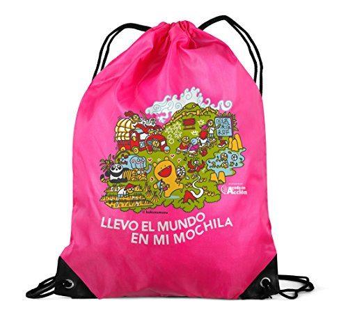 mochila solidaria ayuda en accion y kukuxumusu rosa