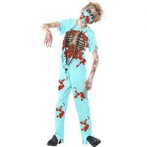 Disfraz de cirujano zombie para niño